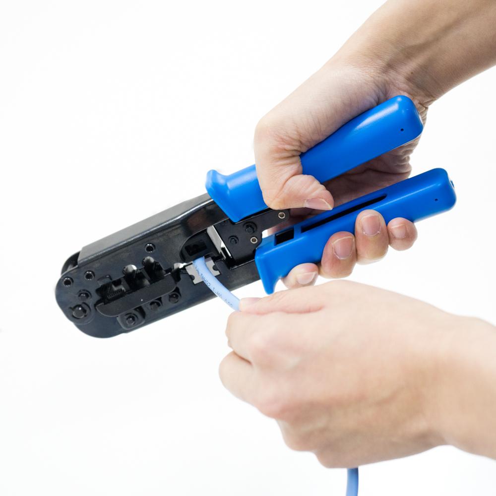 ケーブル用加工工具 かしめ工具 8極/6極/4極対応 [CAT-CP01]