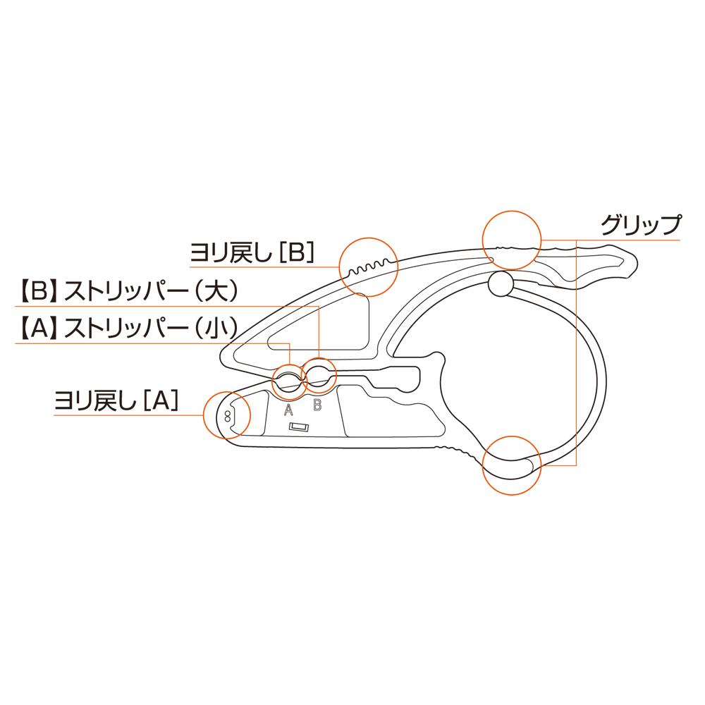 ケーブル用加工工具 ケーブルストリッパー [CAT-CS01]