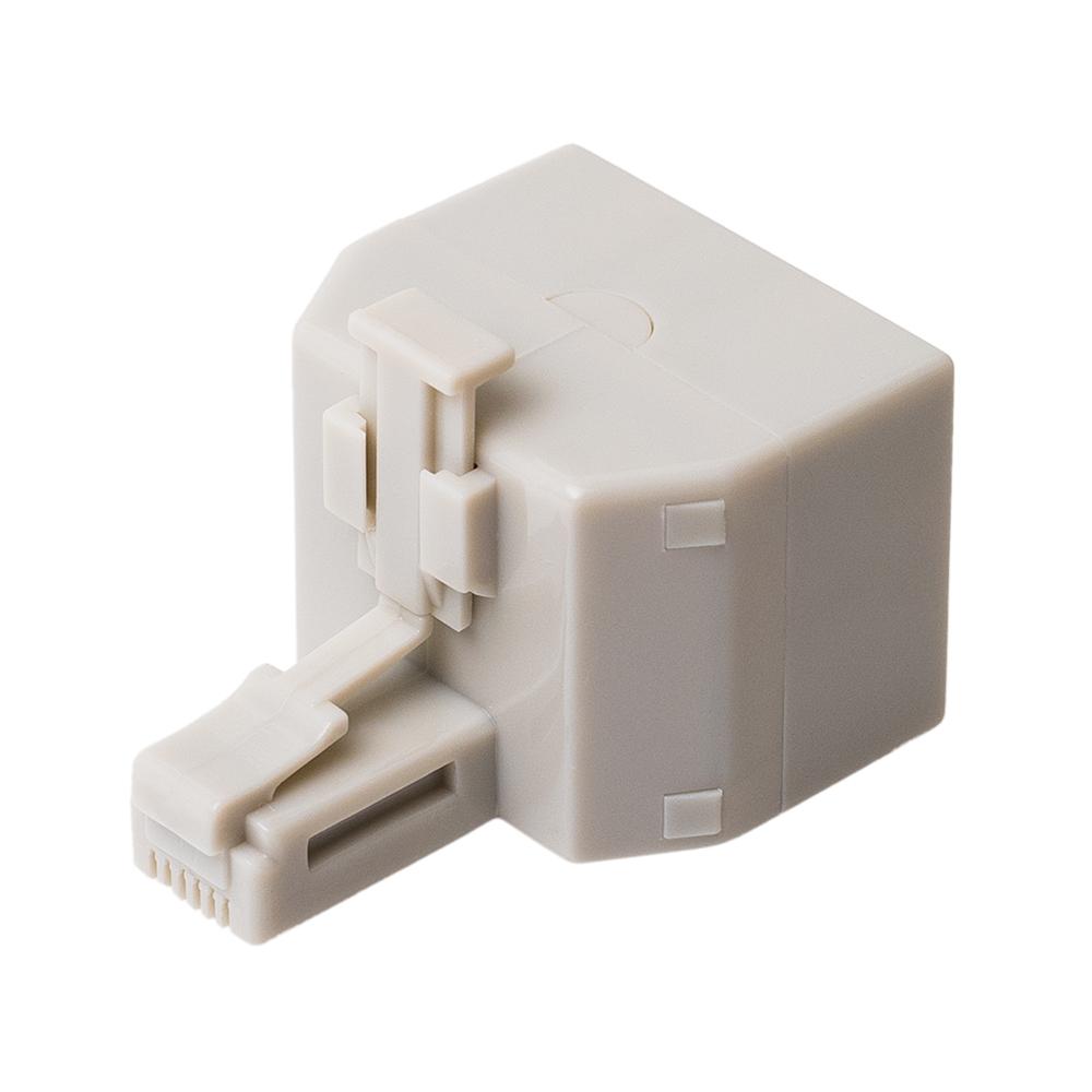 6極4芯対応 電話機コード分配アダプタ 直挿しタイプ [DA-42]