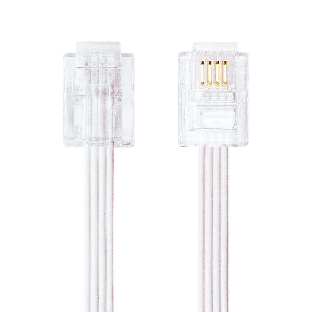 6極4芯/2芯 電話機コード フラットタイプ [DC-F4]