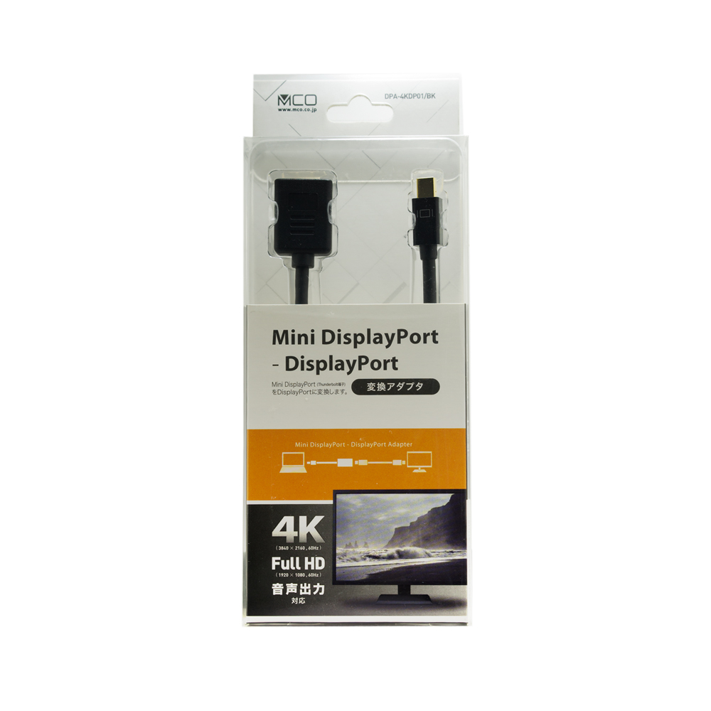 4K対応 miniDisplayPort-DisplayPort アダプタ [DPA-4KDP01]