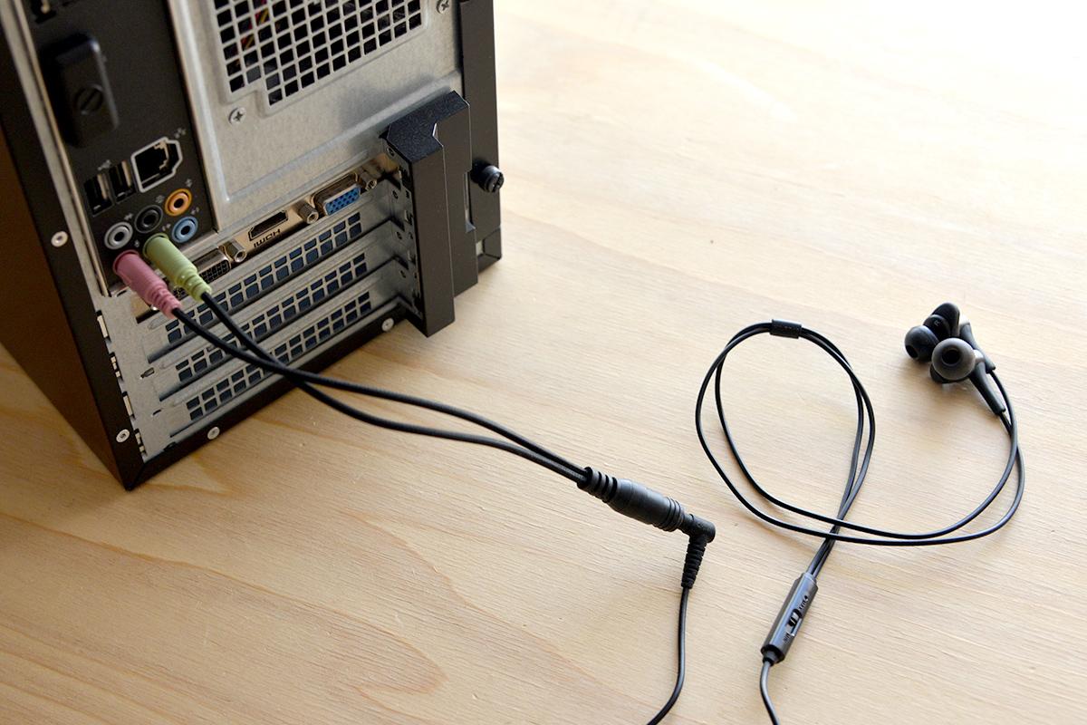3極のパソコンを4極に変換してイヤホンやヘッドホンを使いたい