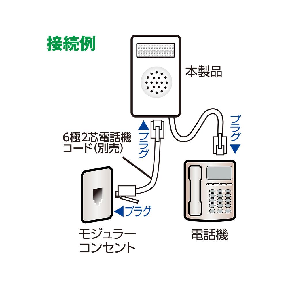 電話着信お知らせアダプタ フラッシュリンガー 壁掛けタイプ [DSP-FL01]