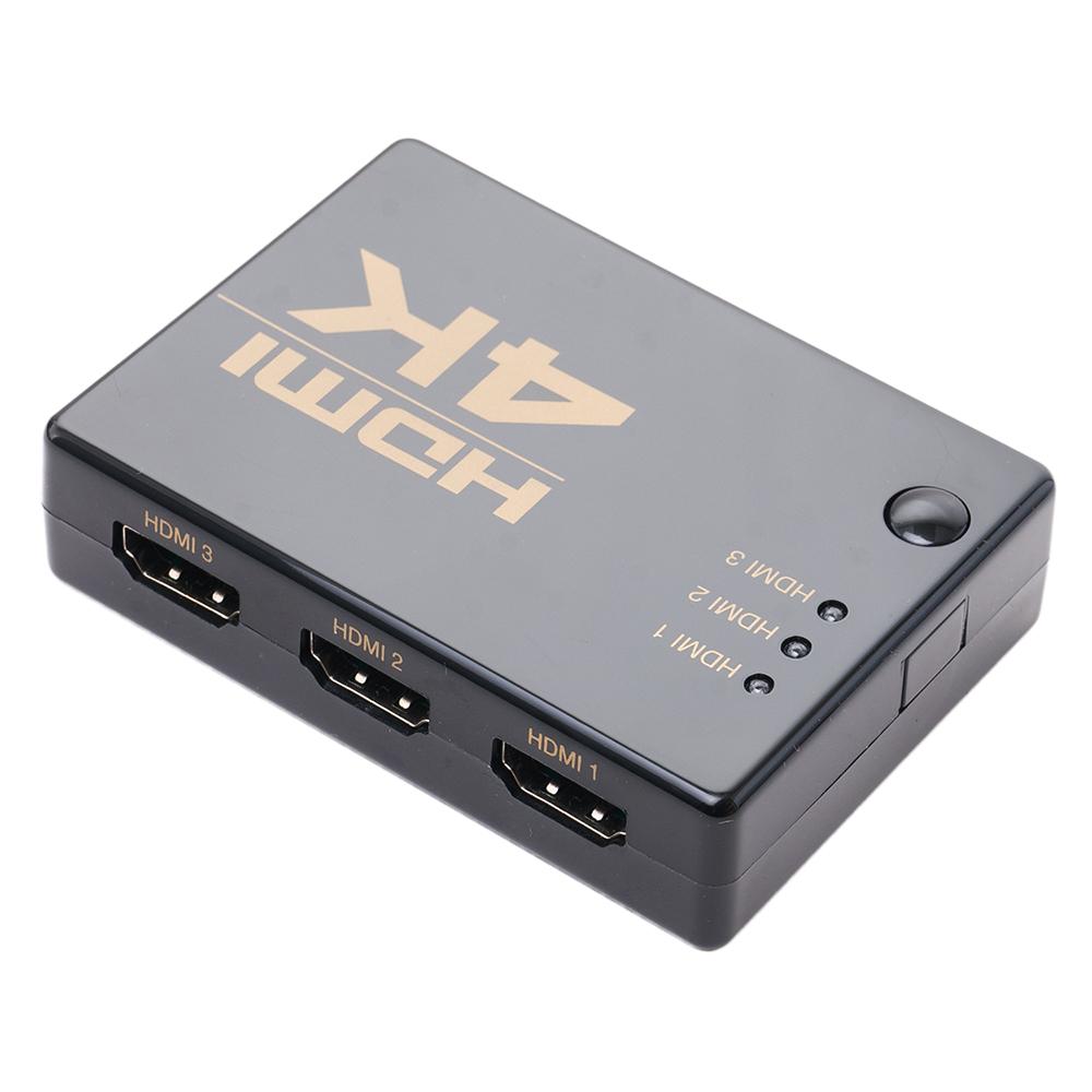 4K解像度対応 HDMI切替器 3入力1出力 HDMIケーブル付属タイプ [HDS-4K03]