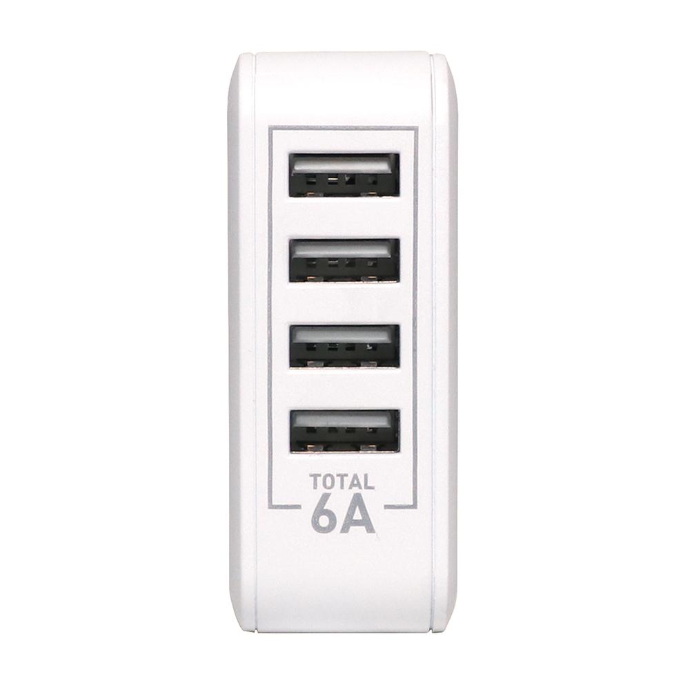 5V6A対応 USB-ACアダプタ 4ポートタイプ [IPA-60U]