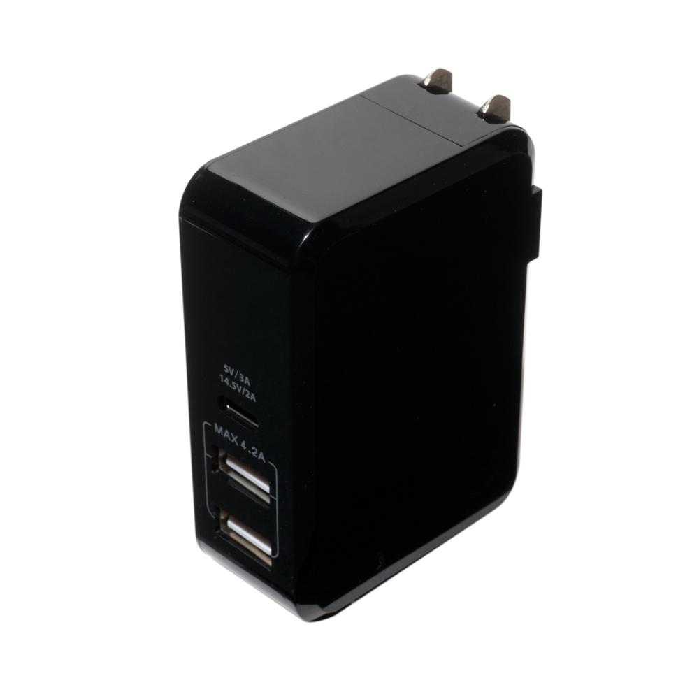 高出力対応USB-ACアダプタ 3ポートタイプ [IPA-C01]