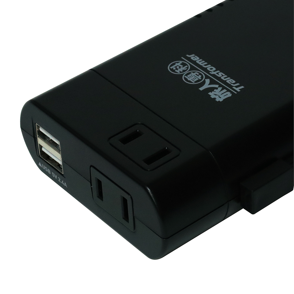 トラベル用薄型変圧器 USB2.4A [MBT-WDM2]