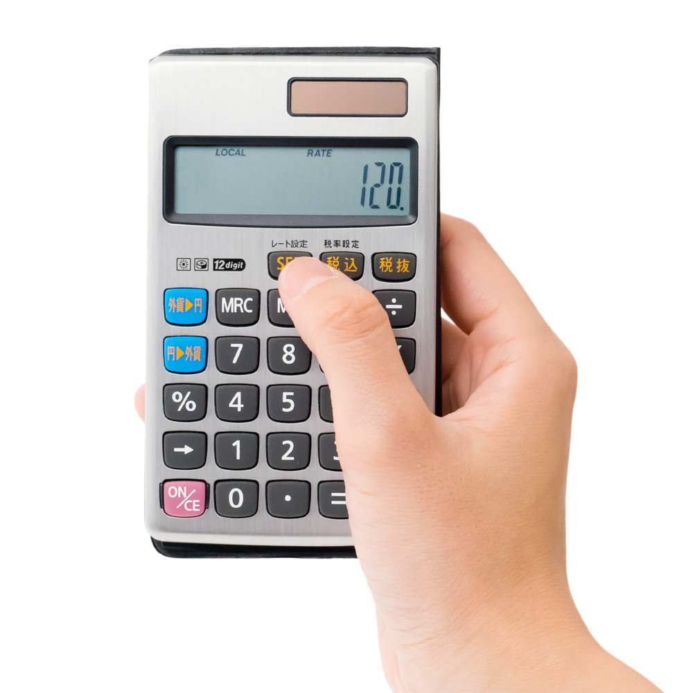 海外旅行対応 レート換算電卓 [MBZ-RDE01]