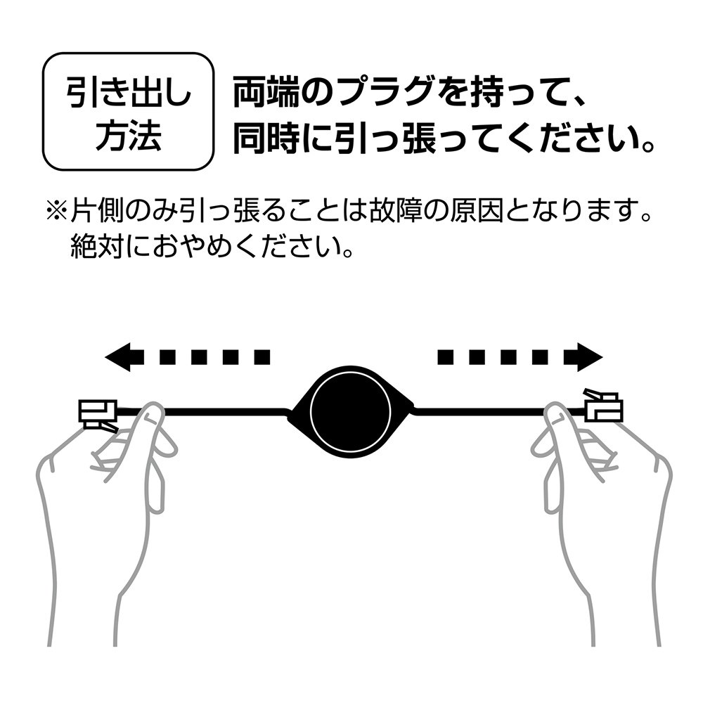 カテゴリー6A コードリールLANケーブル [MUL-CA6xx]