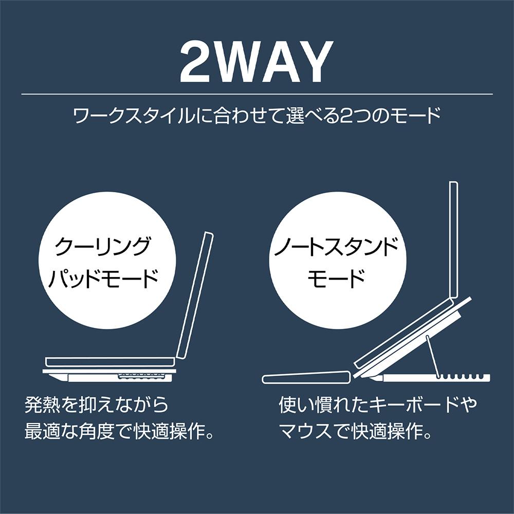 2WAY 6FAN ノートPCクーラー 全面冷却タイプ [NSF-06]