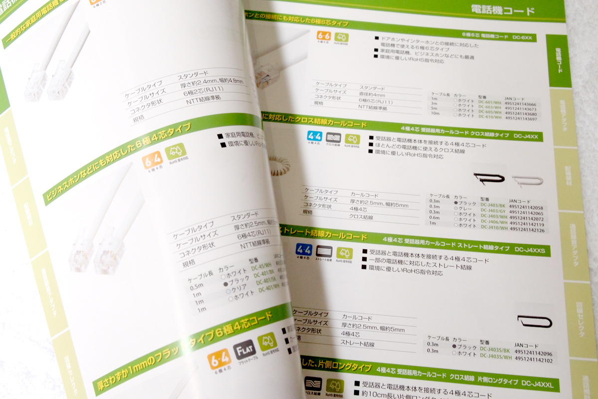 電話機関連商品カタログ