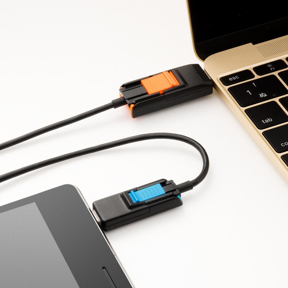 USB Type-C 搭載 4in1変形モバイルケーブル [SCB-4T10]
