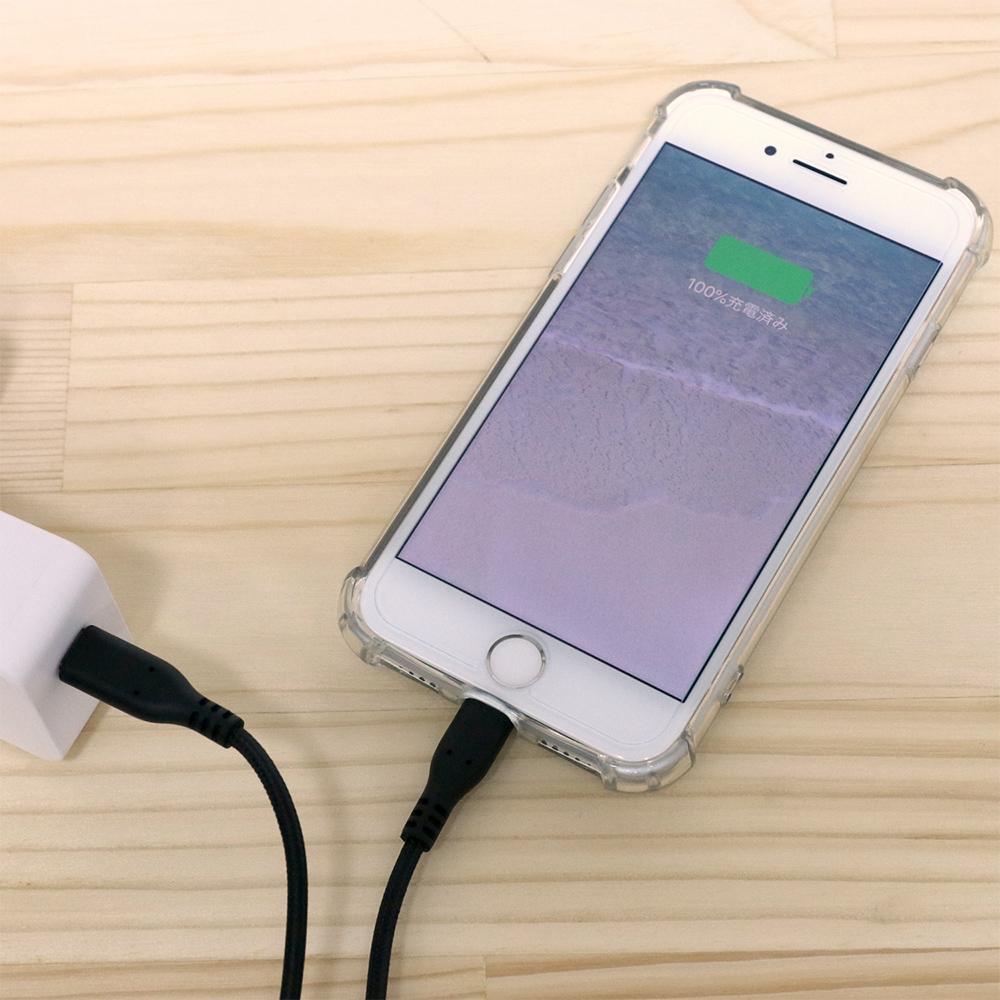Lightning – USB Type-C ケーブル メッシュケーブルタイプ [SCL-TXXN]