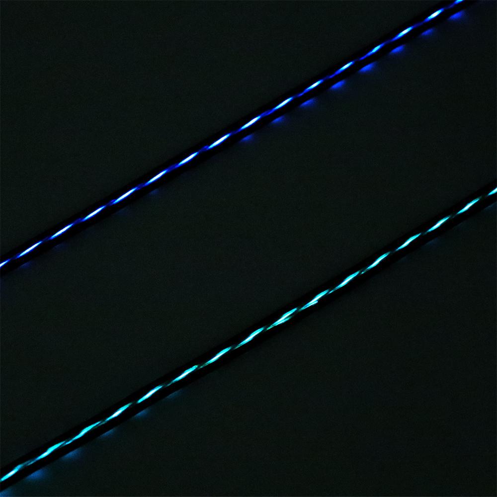 LED内蔵USBケーブル USB microBコネクタ [SLE-M10]