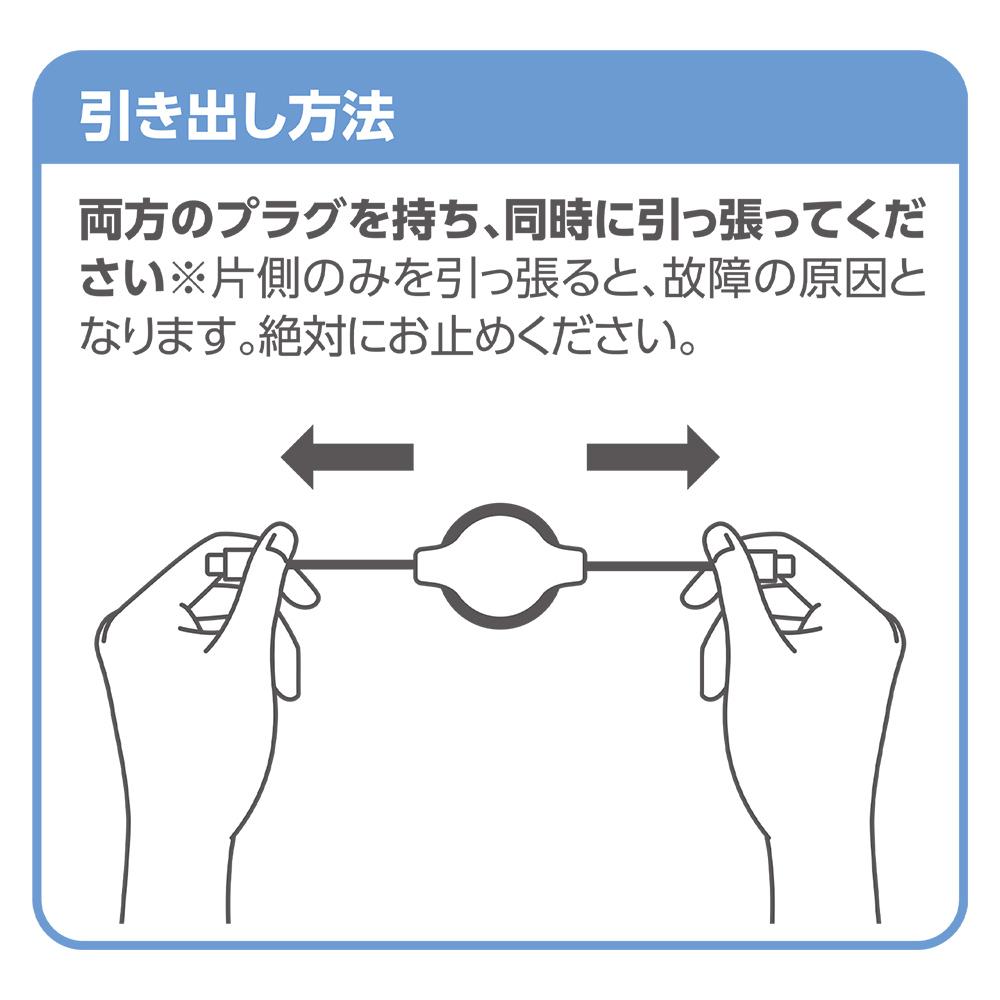 USB Type-C ケーブル コードリールタイプ [SMC-12PD]