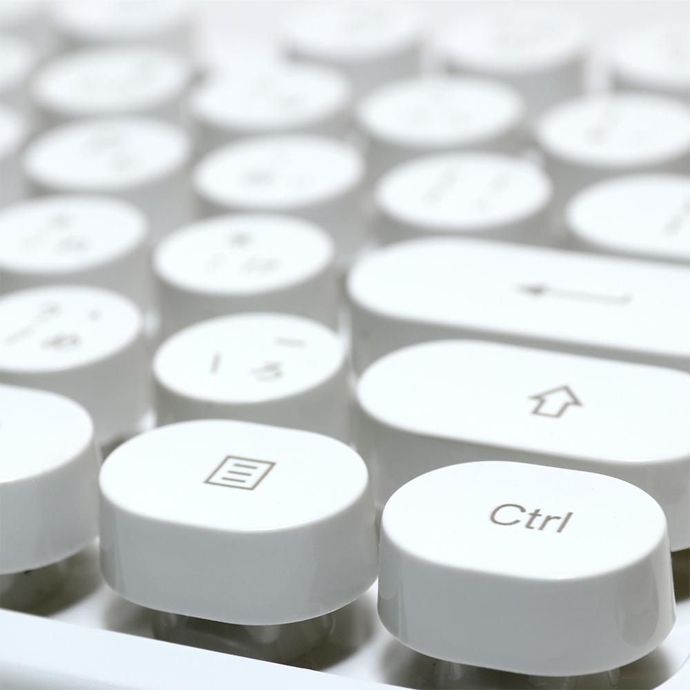 レトロ風デザインUSBキーボード [TRT-US01]