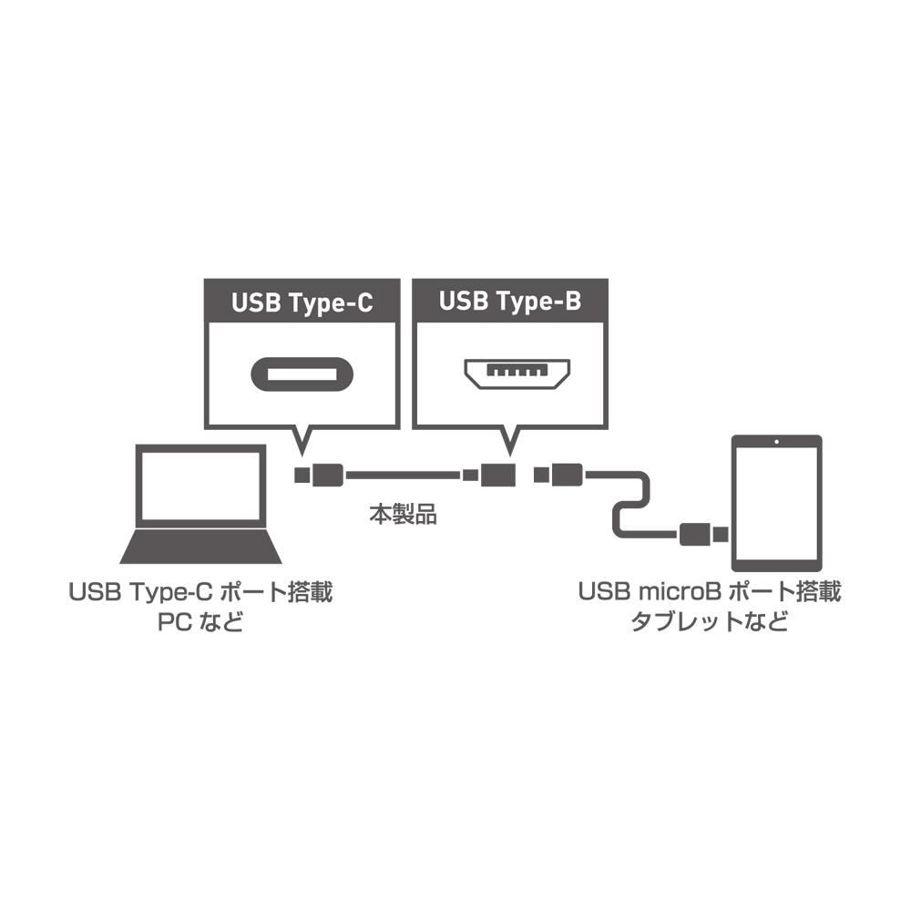 USB2.0変換ケーブル C-microBコネクタ [USB-CM2]