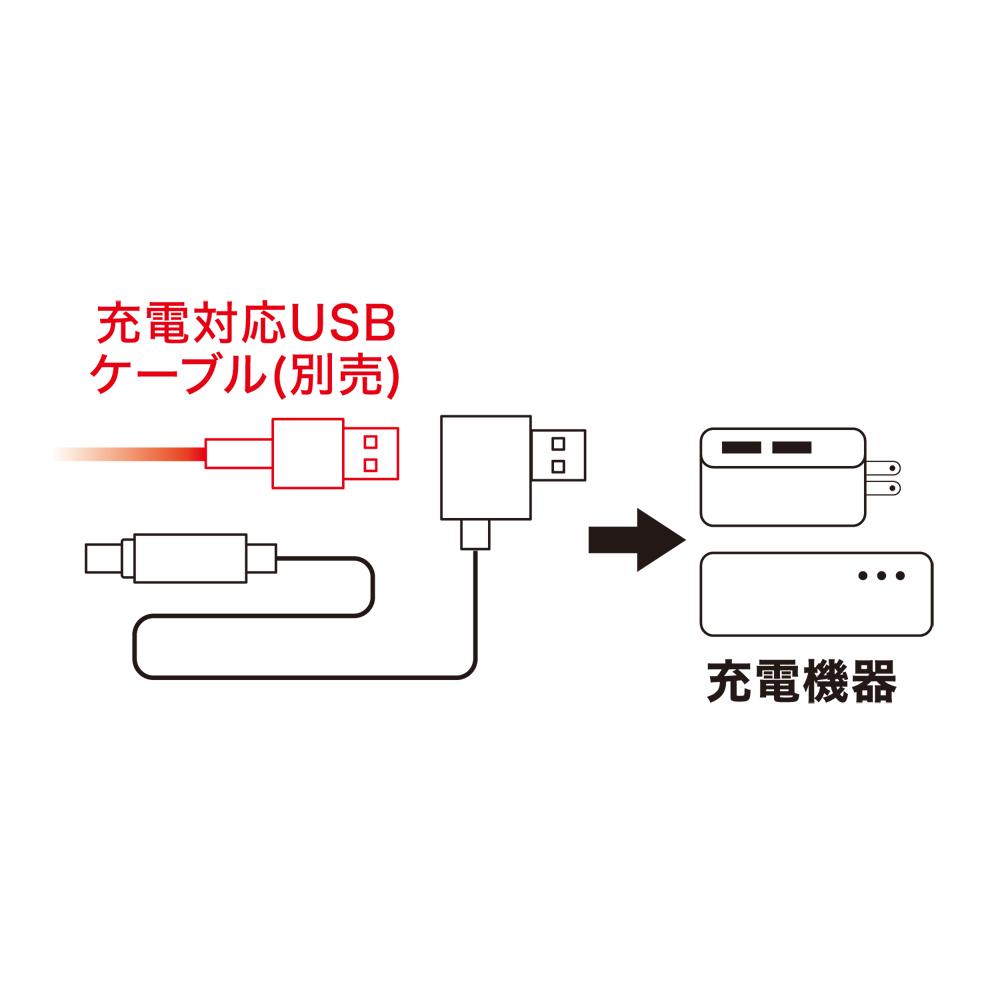 高耐久microUSBケーブル サービスコネクタ搭載 [USB-MW23]