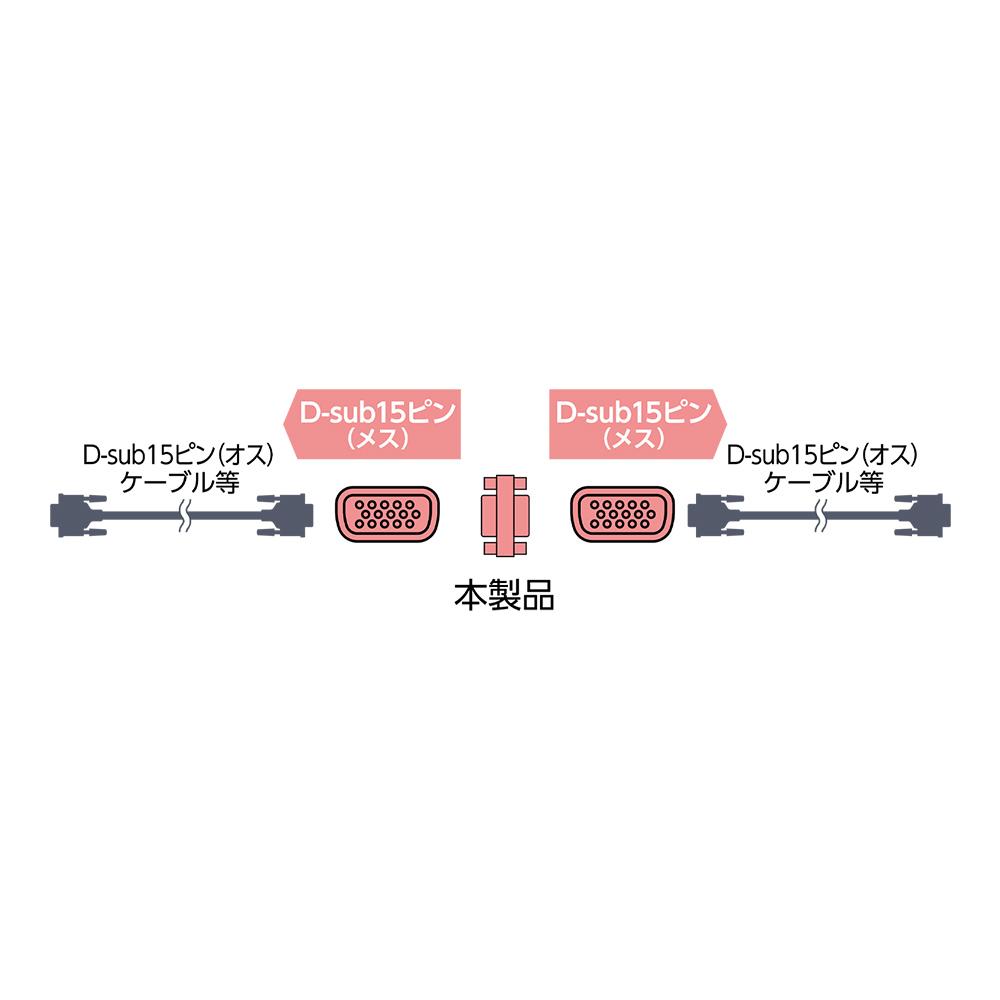 D-sub15ピン ジェンダーチェンジャー [VDA-DS02]